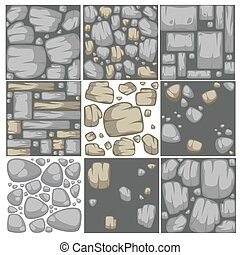 Abstract vector stone background set.