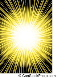 Abstract vector sun rays