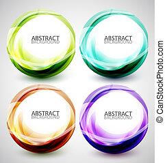 Abstract vector swirl set
