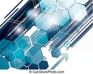 abstract, vector, technologie, achtergrond