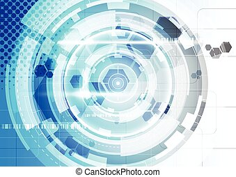 Abstract vector technology background, illustration