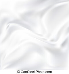 Abstract Vector Texture, White Silk - White Silk Fabric for...