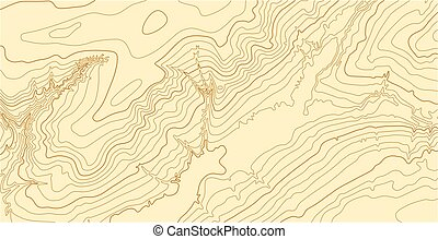 Abstract vector topographic map in brown colors - Abstract...