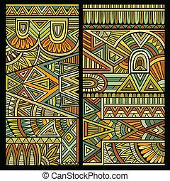 abstract, vector, van een stam, achtergrond, ethnische