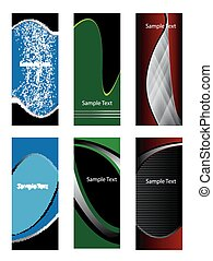 Abstract vector vertical banner