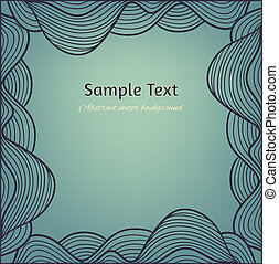 Abstract vector vintage background with hand drawn lacy artistic frame.