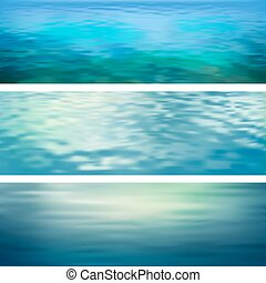 Abstract Vector Water Banners