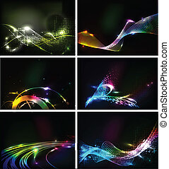 Abstract vector Wave lines