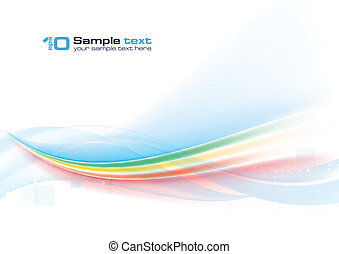 Abstract vector wave on white background