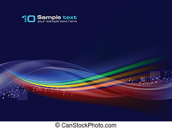 Abstract vector wave on navy background