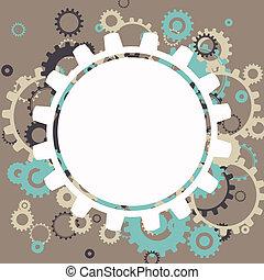 abstract, vector, wielen, cog