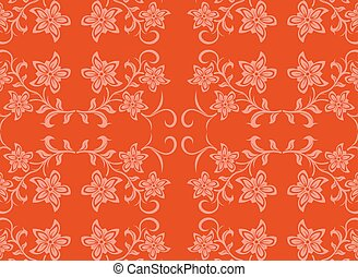 Abstract vector with flowers