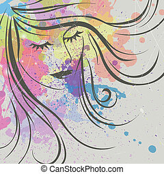 Abstract Vector Woman