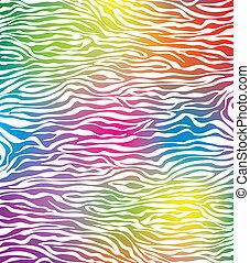 abstract, vector, zebra, textuur, huid