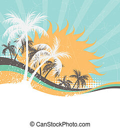 abstract, vector, zomer, achtergrond