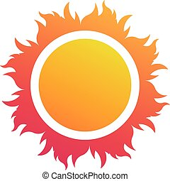 abstract, vector, zon, logo, strand, symbool