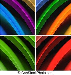 abstract, veelkleurig, achtergrond, golven
