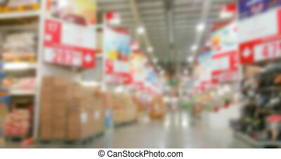 abstract, verdoezelen, supermarkt