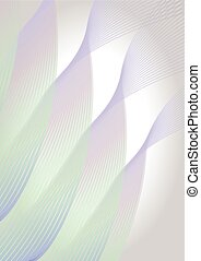Abstract vertical background in soft pastel colors, diagonal wavy line shapes
