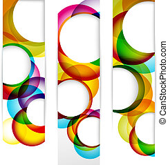 Abstract vertical banner with forms of empty frames for your...