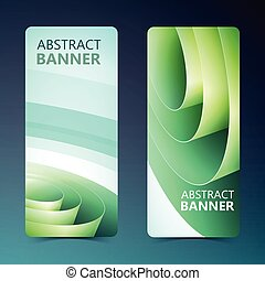 Abstract Vertical Banners