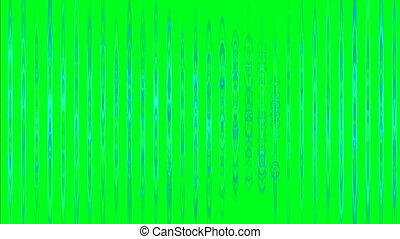 Abstract vertical bars on green screen