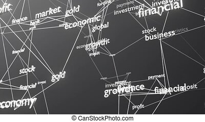 Abstract video animation word cloud. Business concept