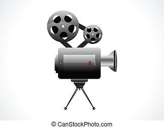 abstract video camera icon vector