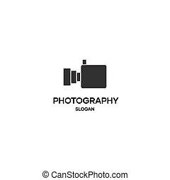 Abstract video photography logo, photographer symbol, camera icon logo
