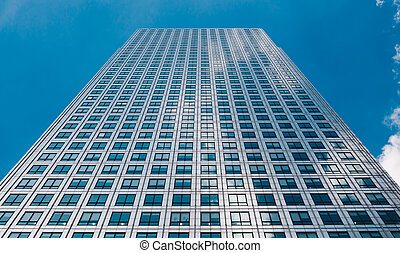 Abstract view of a skyscraper with sunlight