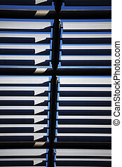 Abstract view of Architectural Roof fins.
