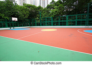 Abstract view of basketball court