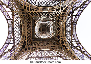 abstract view of details of Eiffel Tower , Paris, France