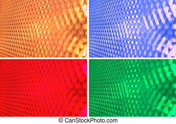 abstract view of different colored light