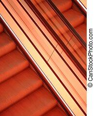 Abstract view of escalators