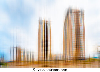 Abstract view of high buildings