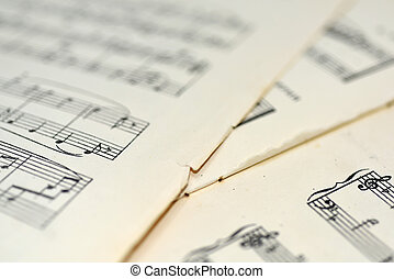Abstract view of music.