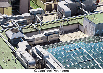Abstract view of roof modern building.