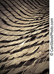 abstract view of traditional wooden roof