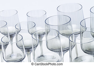 abstract view of vintage wine glasses