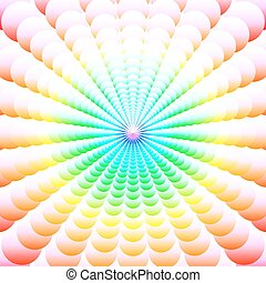 Abstract background of colorful circles ordered