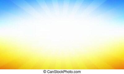 Abstract Vintage background with Sunburst in blue orange ...