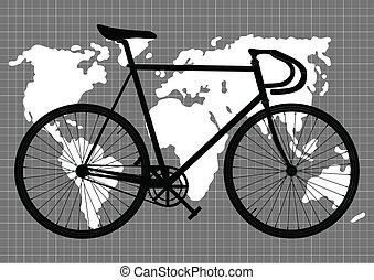 Abstract vintage bicycle