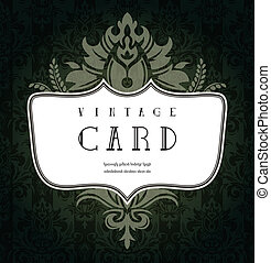 Abstract vintage card