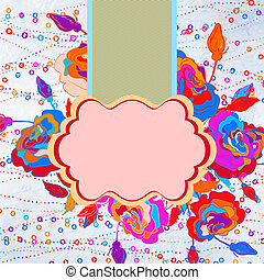 Abstract vintage colorful floral background. EPS 8