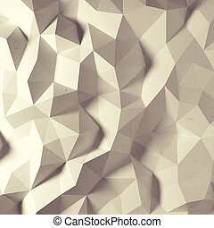 Abstract vintage faceted geometric