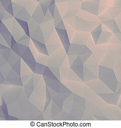 Abstract vintage faceted geometric pattern