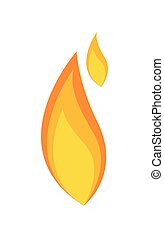 Abstract Vintage Fire Flame Vector Shape Design