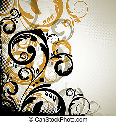 abstract vintage floral design