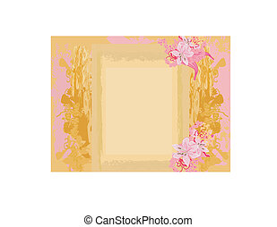 abstract vintage floral frame
